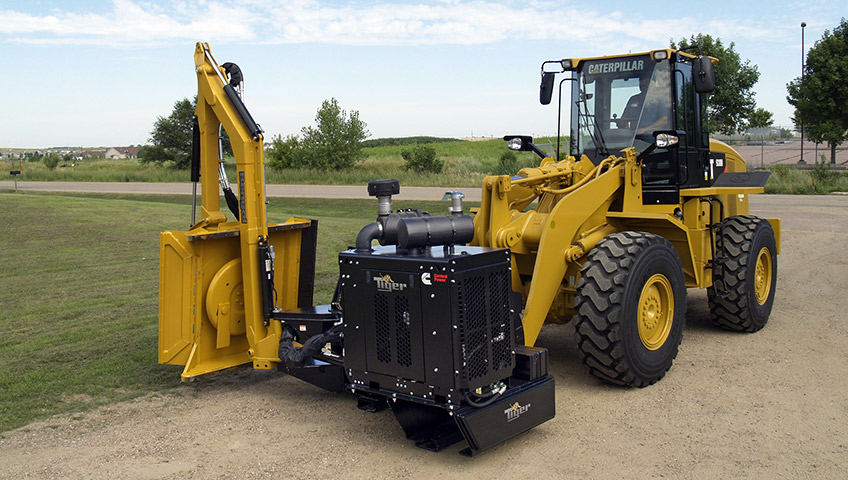 Tiger Mowers Wheel Loader Boom Mower Ontario